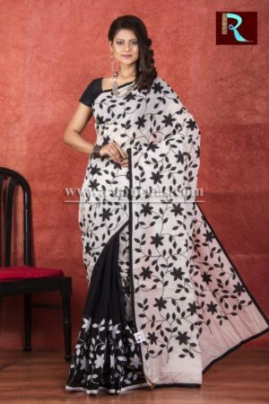 Applique work on BD Cotton Saree