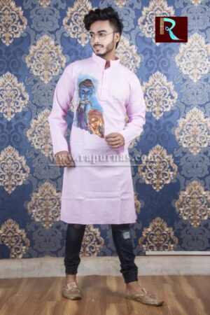 Cotton Kurta with Fabric painting