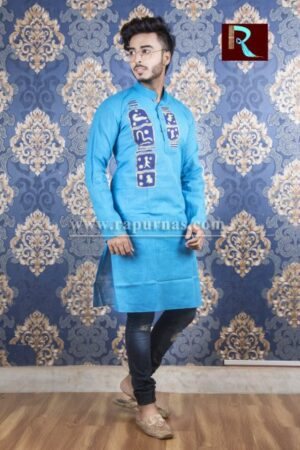 Cotton Kurta with Fabric painting1
