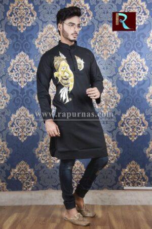 Cotton Kurta with Fabric painting13