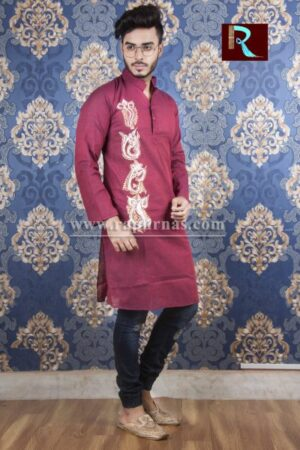 Cotton Kurta with Fabric painting8