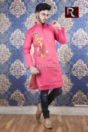 Cotton Kurta with Fabric painting2