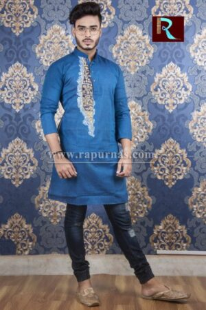 Cotton Kurta with Fabric painting4