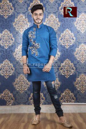 Cotton Kurta with Fabric painting9