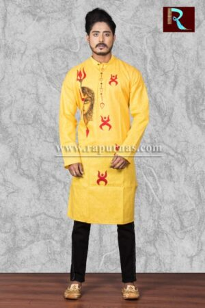 Cotton Kurta with ethnic painting1