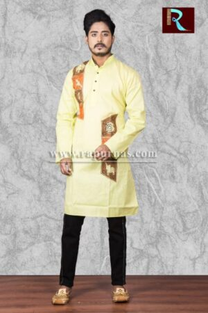 Cotton Kurta with exclusive fabric painting
