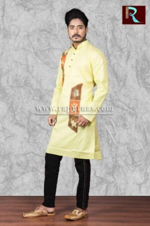 Cotton Kurta with exclusive fabric painting1