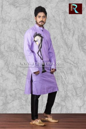 Exclusive Cotton Kurta with Fabric painting