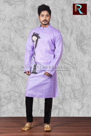 Exclusive Cotton Kurta with Fabric painting1