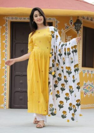 Exclusive Kurti Palazzo set with Dupatta