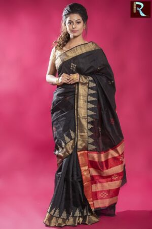 Exclusive and Latest Design Pure Dopian SIlk Saree1