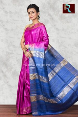 Fashionable Pure Ghicha Silk Saree1