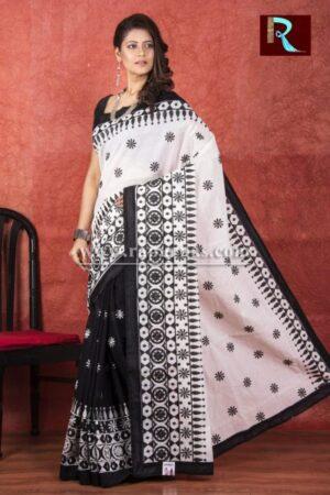 Kachhi Kathiawari work on BD Cotton Saree1