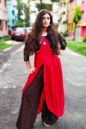Kurti with jacket of Pure Cotton