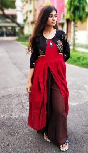 Kurti with jacket of Pure Cotton3