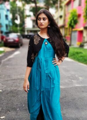 Kurti with jacket of Pure Cotton5