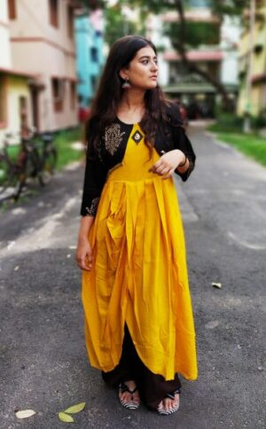 Kurti with jacket of Pure Cotton7