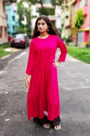 Kurti with jacket of pure cotton11