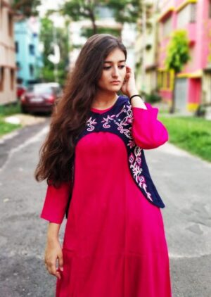 Kurti with jacket of pure cotton12