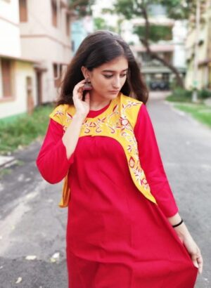 Kurti with jacket of pure cotton14