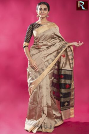 Pure Dopian SIlk Saree with an Ethnic touch