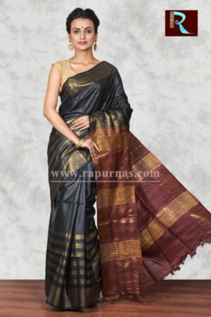 Pure Ghicha Silk Saree with unique color combo