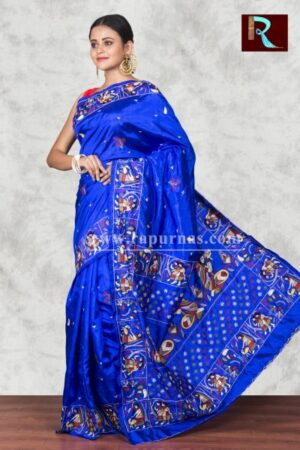 Trendy Hand Ari work on Art Silk Saree1