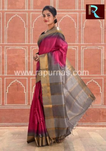 Amazing Tussar Silk Saree1
