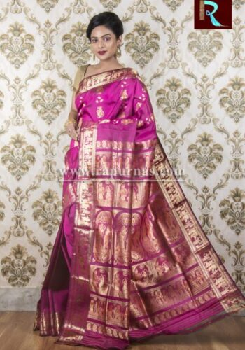 Baluchari Silk Saree of awesome shade and design1