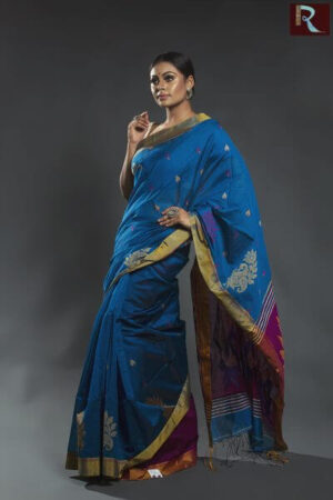 Blended Cotton Bengal Handloom Saree
