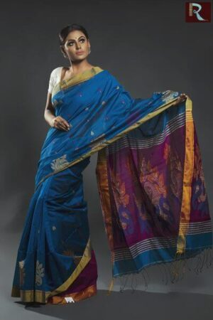 Blended Cotton Bengal Handloom Saree1