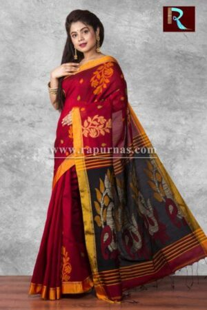 Blended Cotton Handloom Saree of unique look1