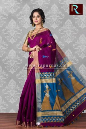 Blended Cotton Handloom Saree with amazing design1
