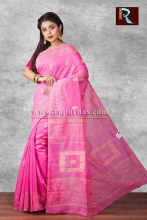 Blended Cotton Handloom Saree with box Pallu1
