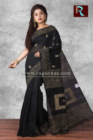 Blended Cotton Handloom Saree with box design