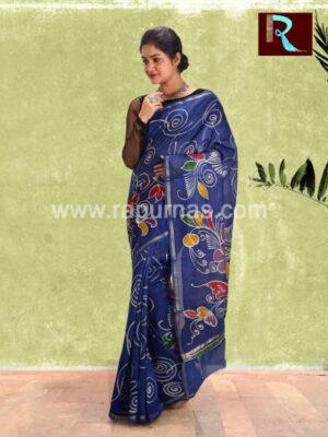 Chanderi Batik Saree for special occasion