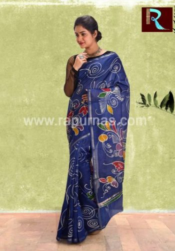 Chanderi Batik Saree for special occasion