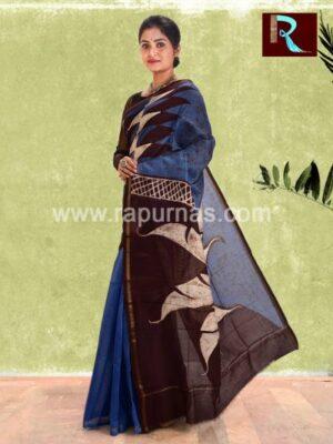Chanderi Batik Saree with unique floral print1