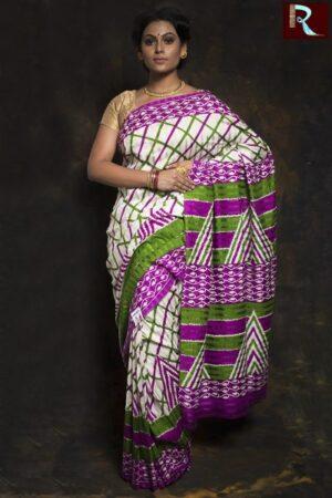 Checkered Matka Silk Saree1