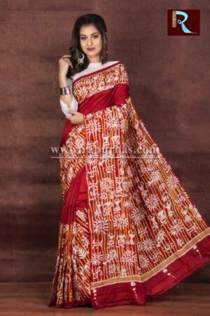 Classy Hand Batik on Pure Silk Saree