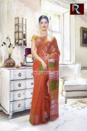 Dhakai Jamdani Saree with a quirky design