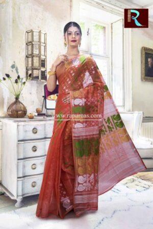Dhakai Jamdani Saree with a quirky design1