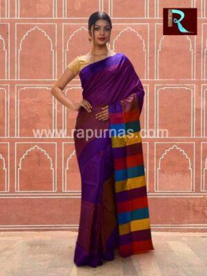 Glamorous Bishnupuri Silk 3D Katan Saree