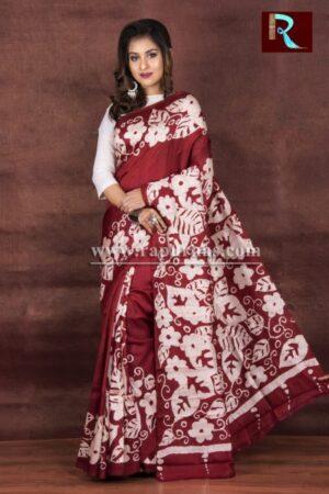 Hand Batik on Pure Silk Saree