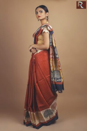 Printed Tussar Silk Saree1