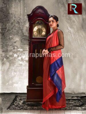 Pure Silk Saree with Abu-tai print