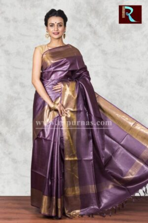Pure Tussar Silk Saree with glowing color