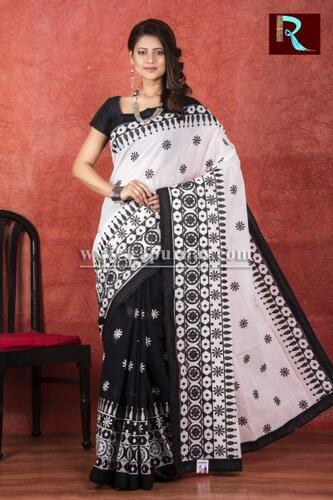 Kachhi Kathiawari work on BD Cotton Saree