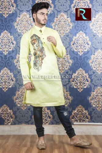 Cotton Kurta with Fabric painting3