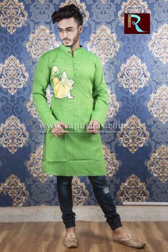 Cotton Kurta with Fabric painting6